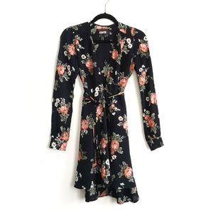 Reformation Poppy & Daisy Long Sleeve Wrap Dress